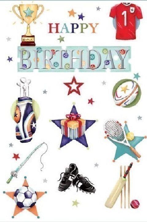Sporty Happy Birthday Card