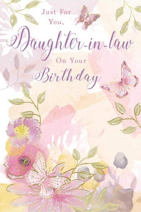 Happy Birthday Daughter-in-Law Butterfly Card