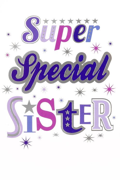 Happy Birthday Super Special Sister Card