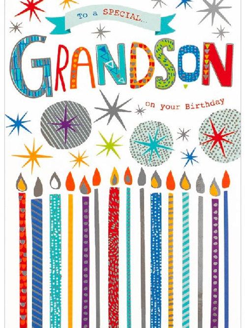 Happy Birthday Grandad Candles Card