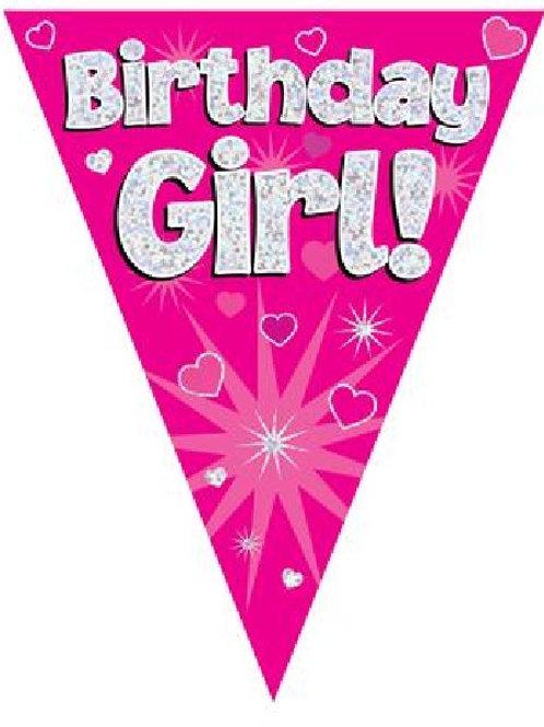BIRTHDAY GIRL PINK BUNTING
