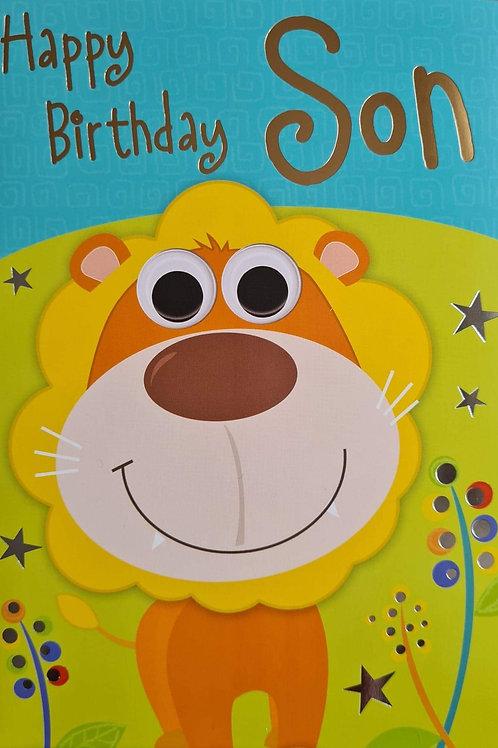 Happy Birthday Son Lion Card