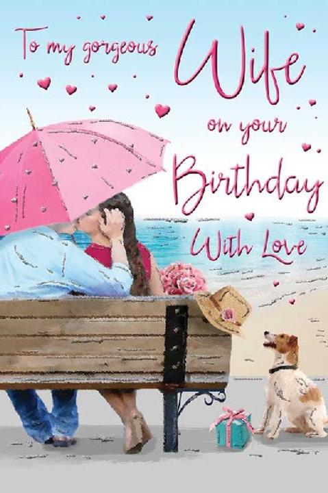 Happy Birthday Wife Seaside Card