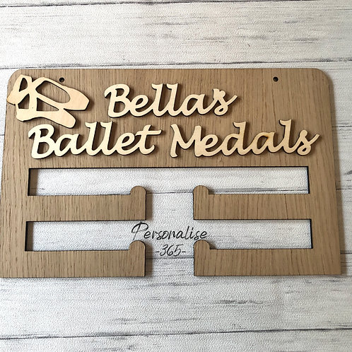 Personalised Ballet Medal Holder with craft shape