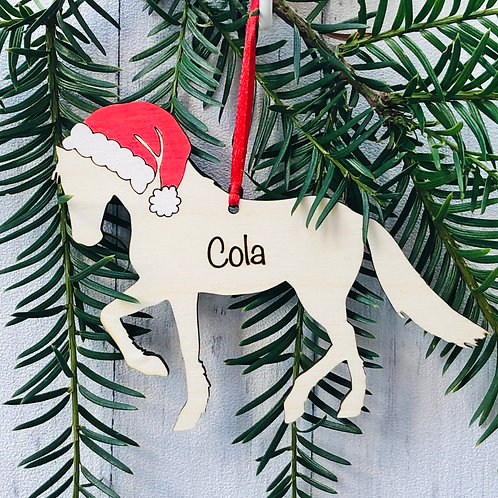 Horse Personalised Pet Christmas Tree Decoration