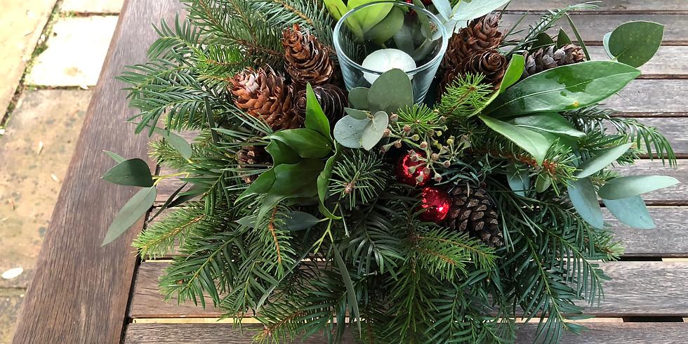 Christmas Table Decoration Workshop 9 December 2019