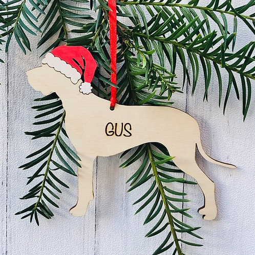 Great Dane Pet Dog Christmas Tree Decoration Personalised