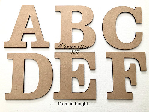 11cm Letters 4mm MDF