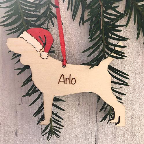 Beagle Pet Dog Wood Christmas Tree Decorations