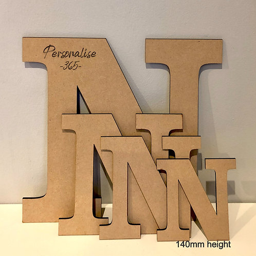 14cm Letters 4mm MDF