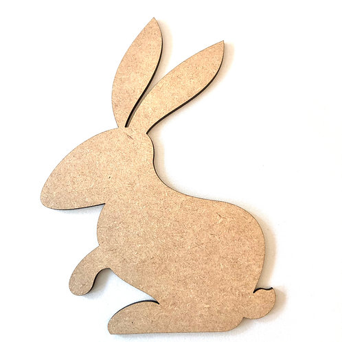 Easter Bunny Craft Shape x 2 MDF Ready to Paint