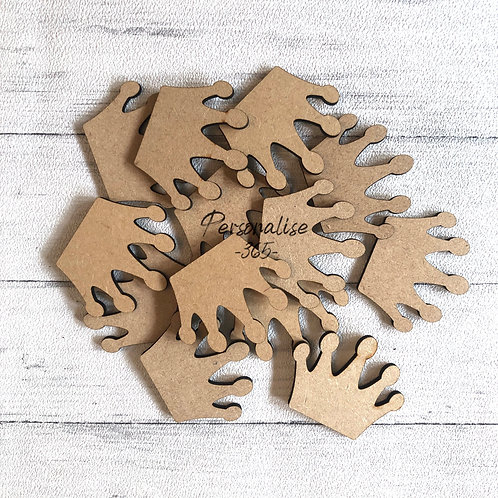 Mini Crowns wooden Craft Shapes x 10
