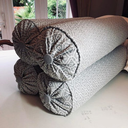 These bolster cushions ready for client