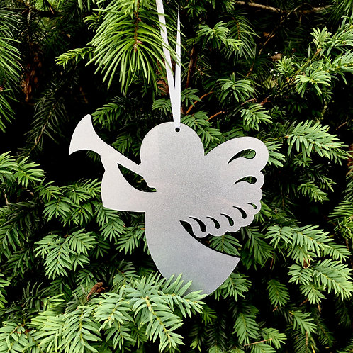 Angel Christmas Tree Decoration in Gold/Silver/Clear Acrylic