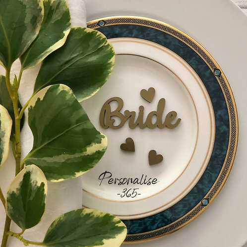 Gold Wedding place names/Silver Wedding Place Names personalised
