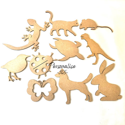 Animal Shapes x 2 wooden MDF