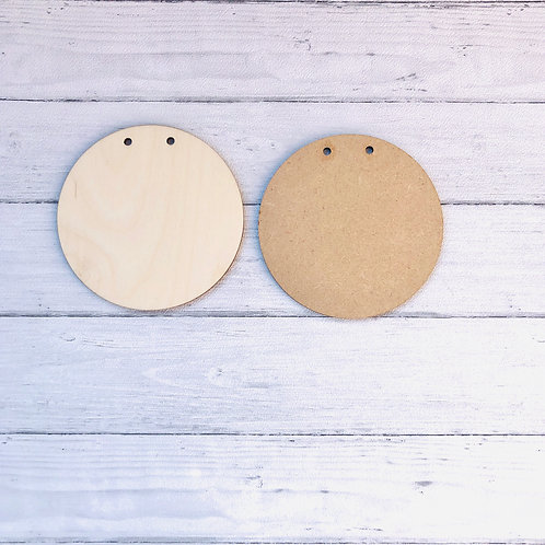 Blank circle plaque/sign
