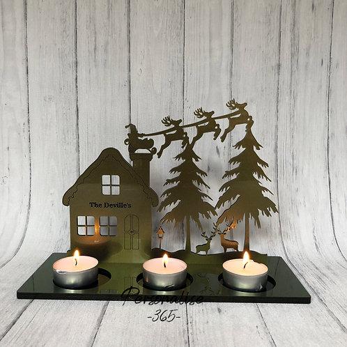 Gold Acrylic Glitter Christmas Candle tealight home decor