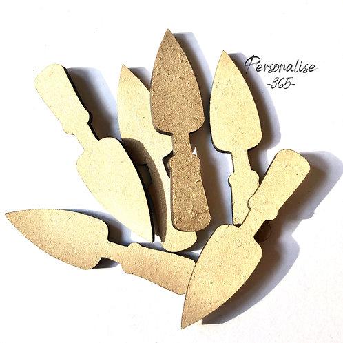 Garden Trowel craft shapes wooden x 10 MDF