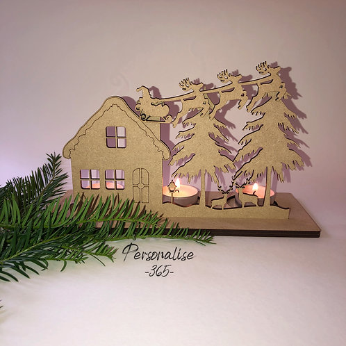 MDF 4mm LED Christmas Candle tealight home decor ready to decorate