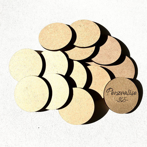 Circle discs craft shapes x 10 size 50mm/5cm in diameter