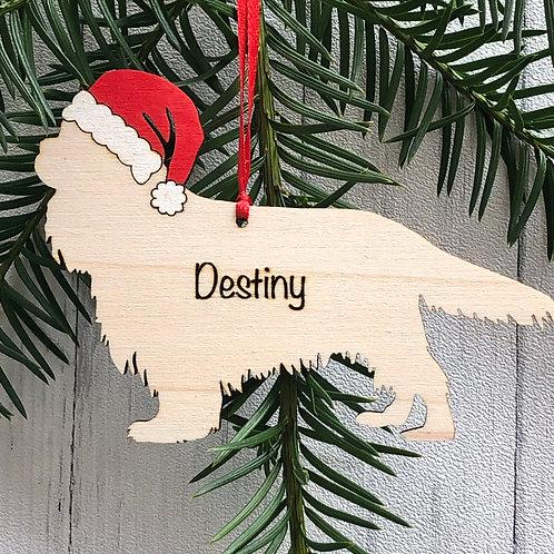 Cavalier King Charles Spaniel Pet Dog Wood Christmas Tree Decorations