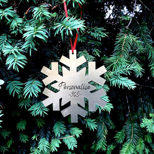 Acrylic Snowflake engraved personalised/teacher gift/1st Christmas