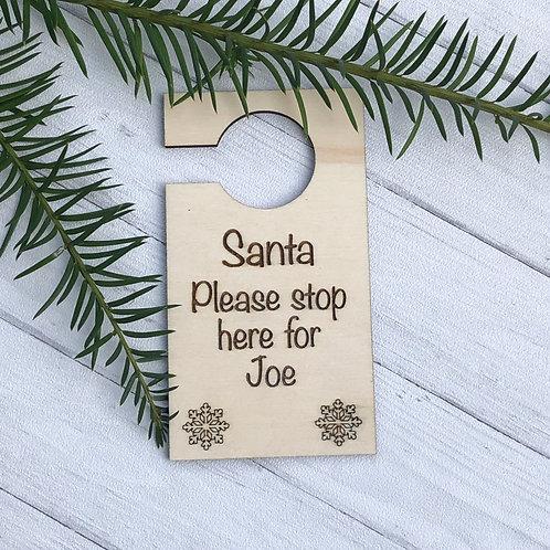 Santa Door Hanger Engraved/Door Hanger Personalised/Christmas door hanger/custom