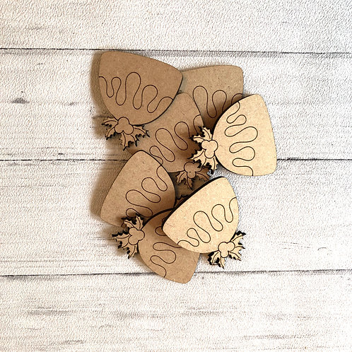 Wooden Christmas Pudding Craft Shapes x 10 MDF