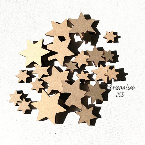 Star shapes craft shape  x 20 -  3 sizes in pack
