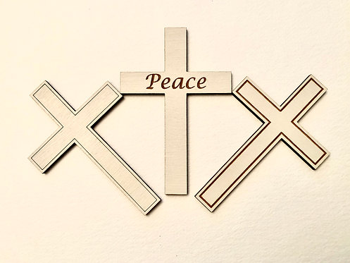 Set of 5 Wooden Religious Crosses