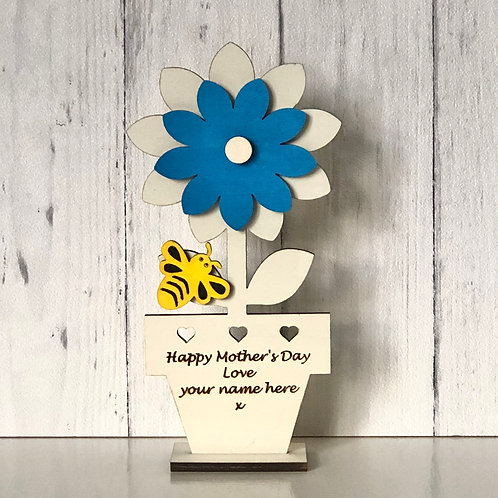 Mothers Day Wooden Card Personalised Keepsake Gift