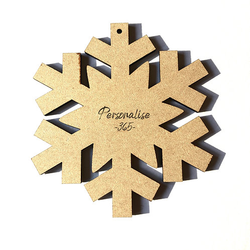 Christmas bauble Snowflake x 6 MDF ready for you to decorate