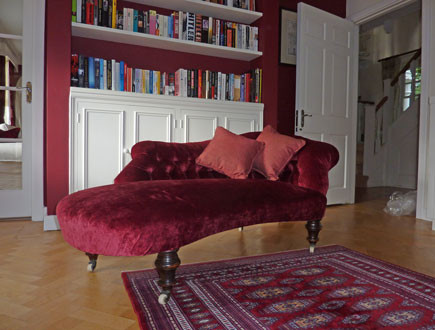 Reupholstered Chaise Longue