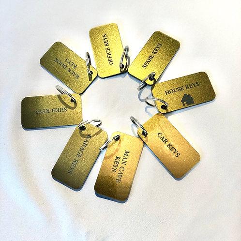 Gold Acrylic Keyrings Personalised