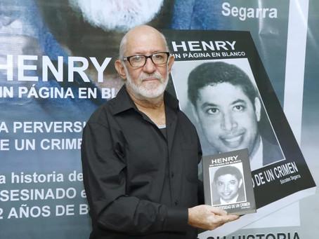 """Escritor Sócrates Segarra pone en circulación su libro """"Henry Sin Página en Blanco"""""""