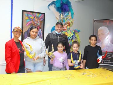 Codocul y Díaz Publicist organizaron taller infantil de creación de caretas de carnaval