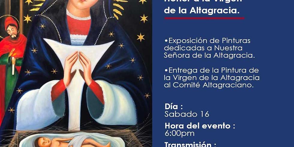 Honor a la Virgen de la Altagracia