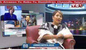 El periodista Erick Gutiérrez entrevista a la Comisionada Dominicana de Cultura en los Estados Unidos, Lourdes Batista-Jakab.