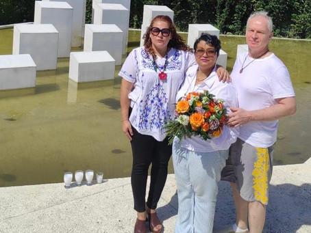 Comisionada de cultura en USA visita el monumento a las hermanas Mirabal y Rufino De la Cruz