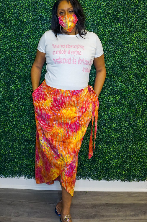 The Racquel - Mock Sarong Skirt with Pockets