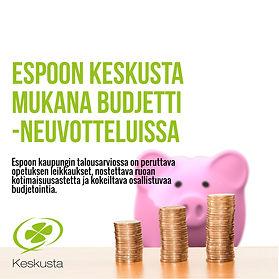 Espoon kaupungin talousarviossa on peruttava opetuksen leikkaukset, nostettava ruoan kotimaisuusastetta ja kokeiltava osallistuvaa budjetointia