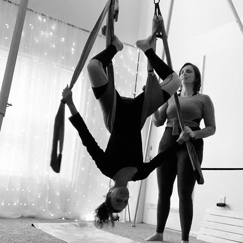 "6-Week Parents + Kids Fly Yoga Trapeze ""Superhero Flight"" Challenge"