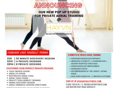 New Pop Up Studio Location For Private Training @ HAYVN