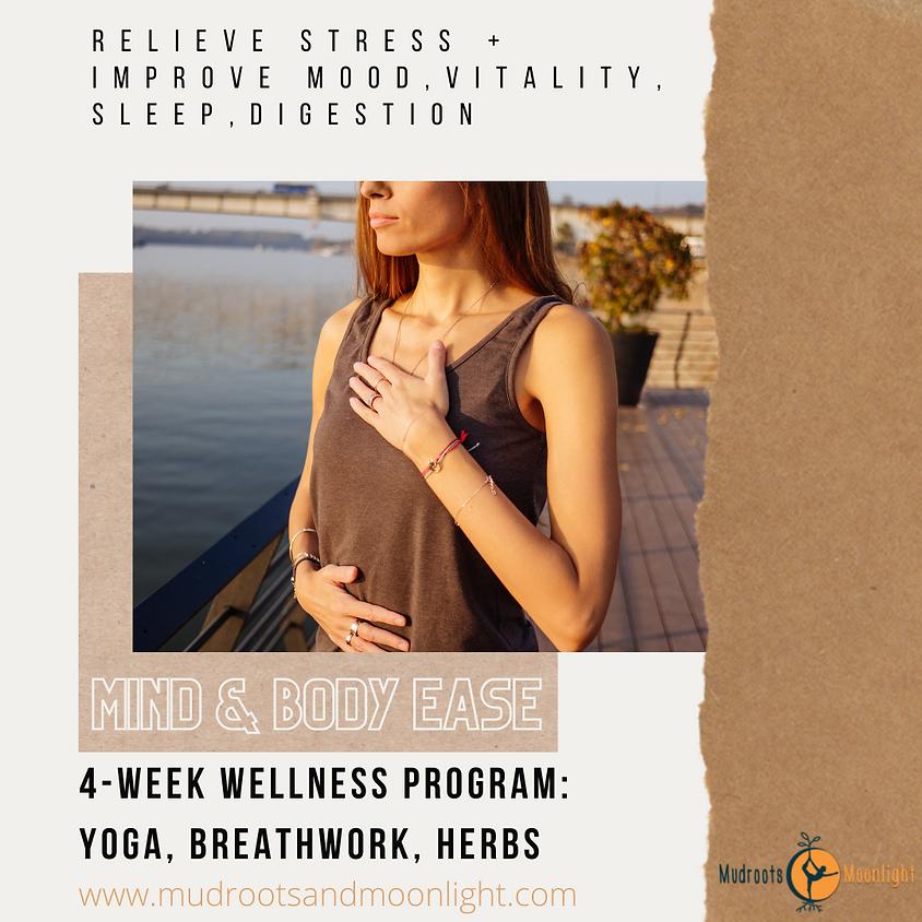 Mind & Body Ease 4-Week Wellness Program: Yoga, Breathwork, Herbs
