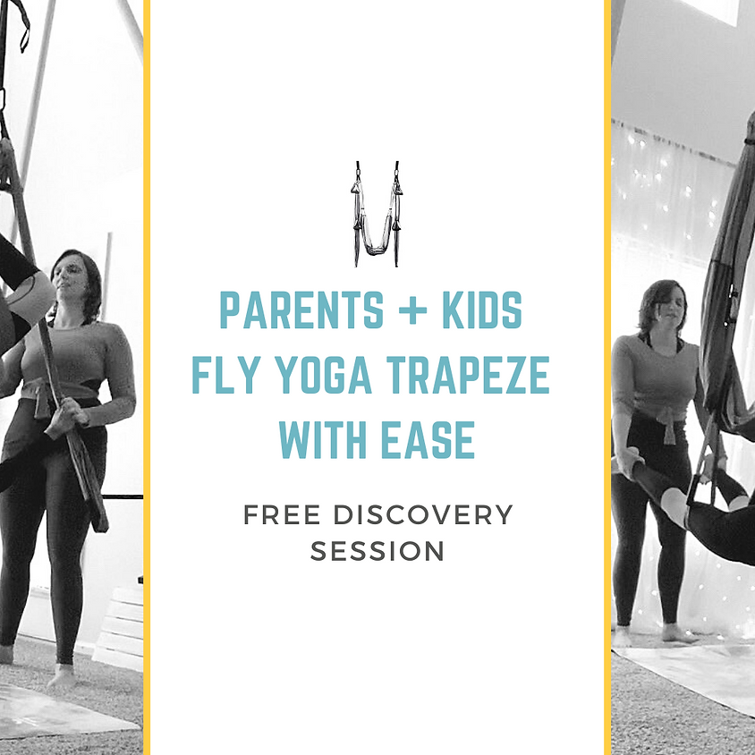 Parents + Kids Fly Yoga Trapeze with Ease