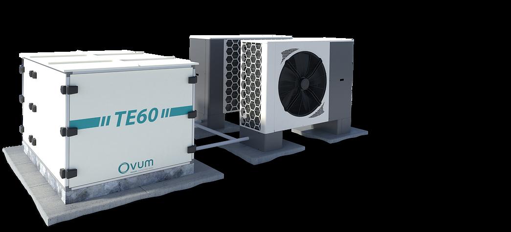 OVUM TopEnegy Heizzentrale mit Luftwärmepumpe von 30 bis 240 kW Heizleistung