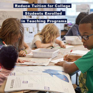 There are many things we can do to keep great teachers in Colorado. Tax credits, Reduced Tuition and Higher Wages are just a few. We must work around TABOR to make it happen - it's possible.