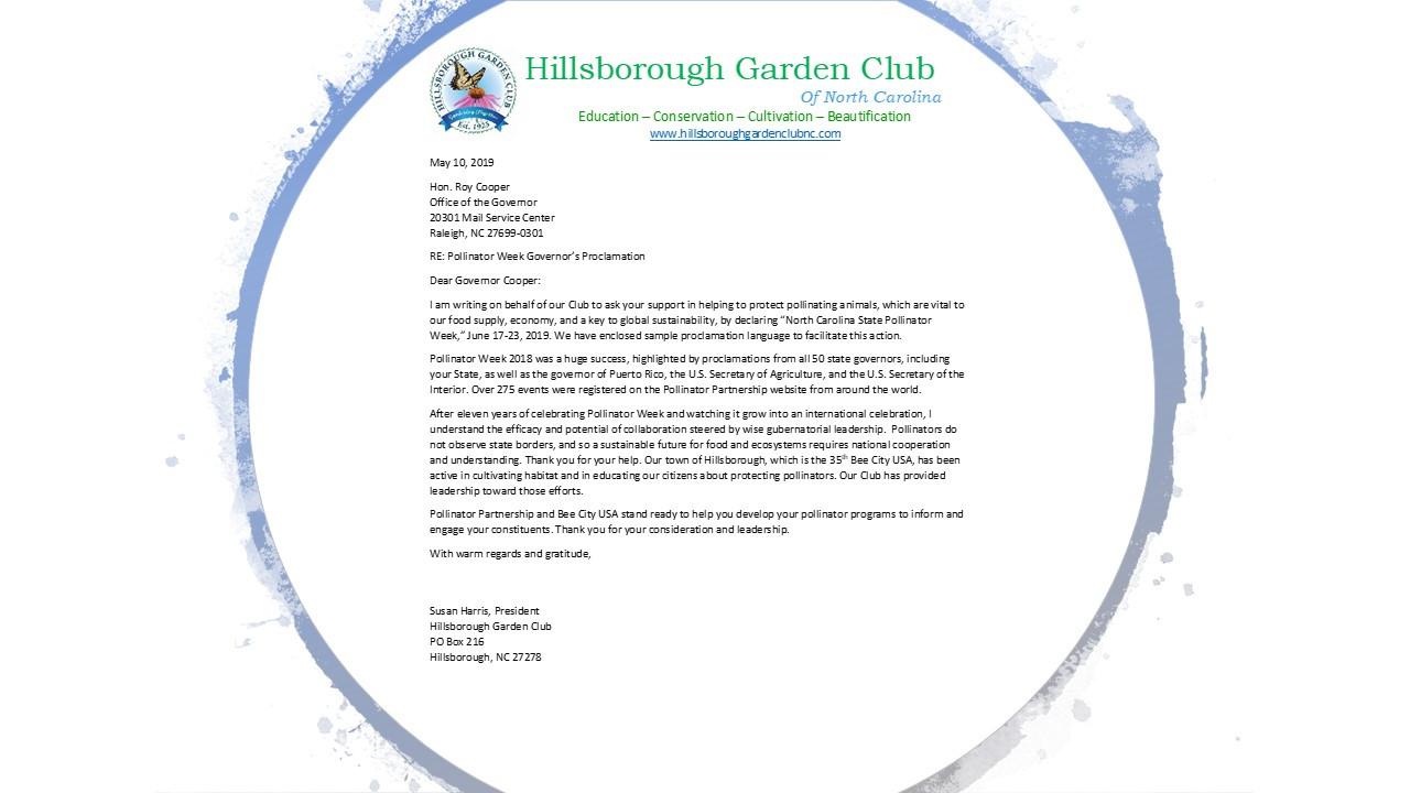HGC Letter to Gov Cooper