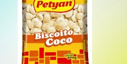 Biscoito de coco petyan 400g